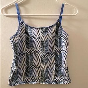 Old Navy patterned tank top with adjustable straps